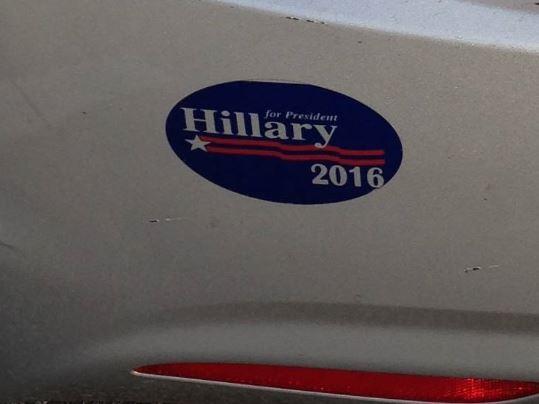 bumper sticker hillary 2016