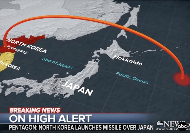 Image result for North Korea launced missile over japan
