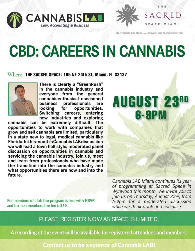 Cannabis LAB Miami – Careers in Cannabis | Legal Learning Series