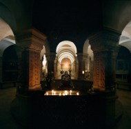 Crypt of the Basilica of the Assumption, Jerusalem, Israel.