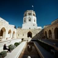 Rockefeller Museum courtyard, Jerusalem, Israel.