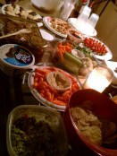 Game night feast with the law school ladies.