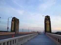 Courtesy Bro-in-Law. Titans of Transportation on the Carnegie-Lorain Bridge.