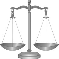 Scales of justice illustrating article about legal malpractice.