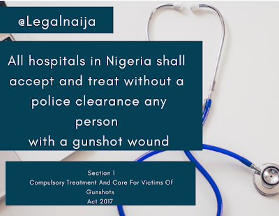 Provisions of the 2017 Compulsory Treatment And Care For Victims Of Gunshots Act