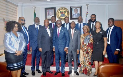 Photos From The NBA Courtesy Visit To Governor Sanwo-Olu