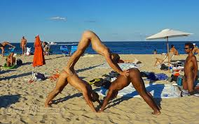 nude beach yoga