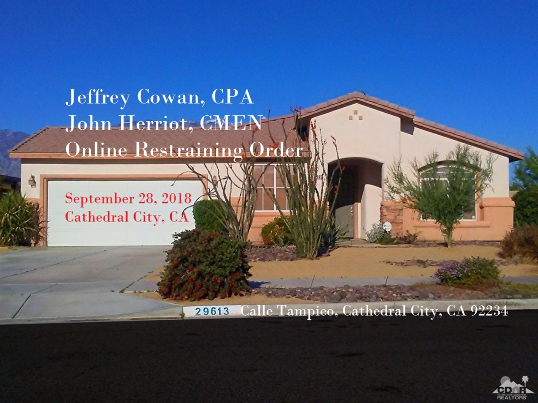 29613 calle tampico cathedral city ca calle tampico, jeffrey cowan cpa