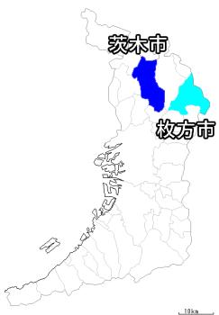 枚方市の地図