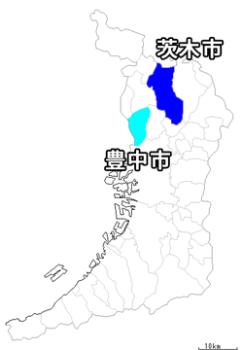豊中市の地図