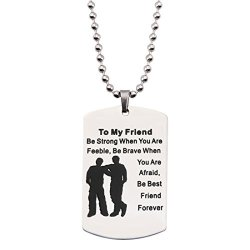 Best Gifts For Son To My Son Dog Tag Necklace&Keychain
