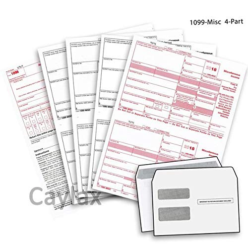 Complete 1099 Misc Forms For 2018 And 1096 Tax Form And