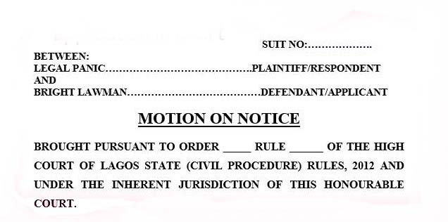 How to move an application in a court in nigeria legal panic how to move an application in a court in nigeria altavistaventures Choice Image