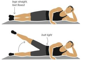 Side Leg Lift - Exercise for Lawyers