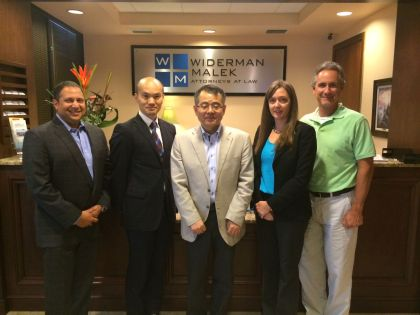 Widerman Malek Attorneys host Japanese Patent Attorneys From Shiga International
