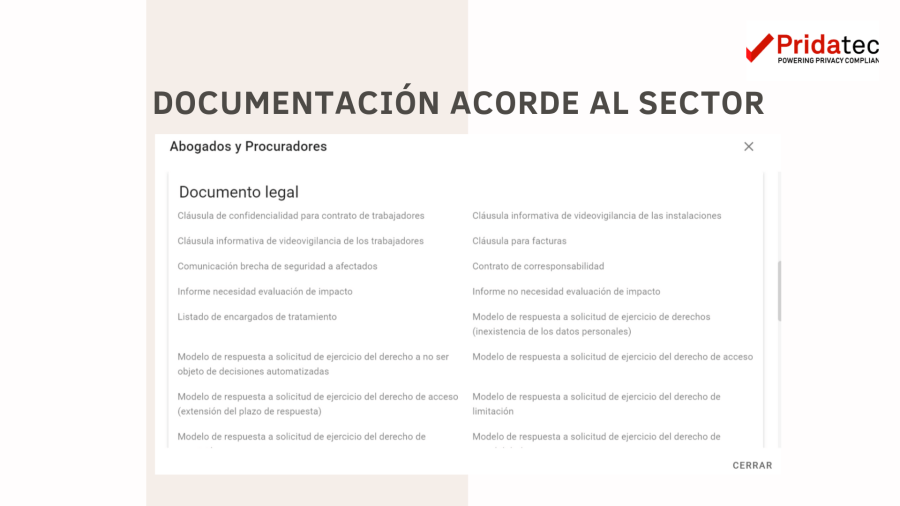 Documentación acorde al sector