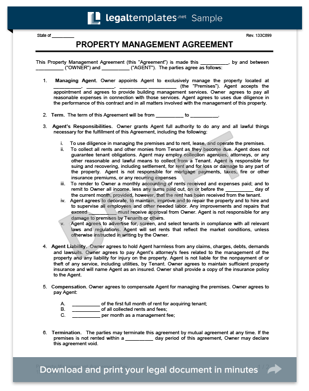 Property Management Agreement Termination Letter Invisite
