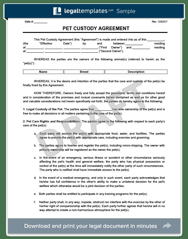 Nc Child Custody Agreement Form