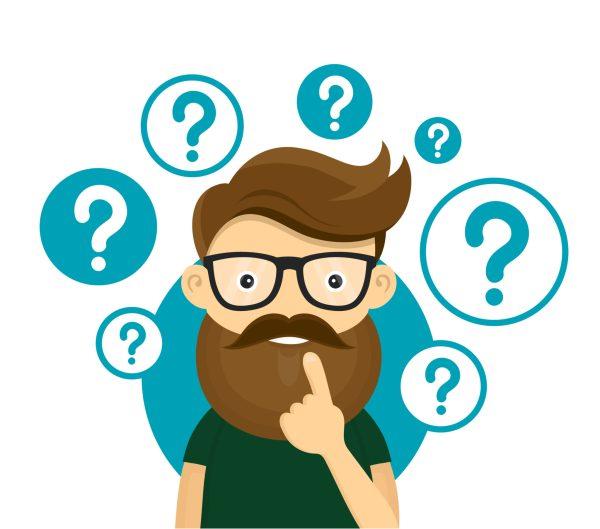 Question Mark Thinking Cartoon