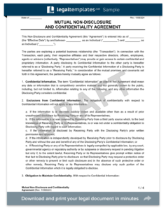 Non-Disclosure (Confidentiality) Agreement - Create an NDA