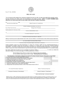 Free Georgia Bill Of Sale Form PDF Template LegalTemplates