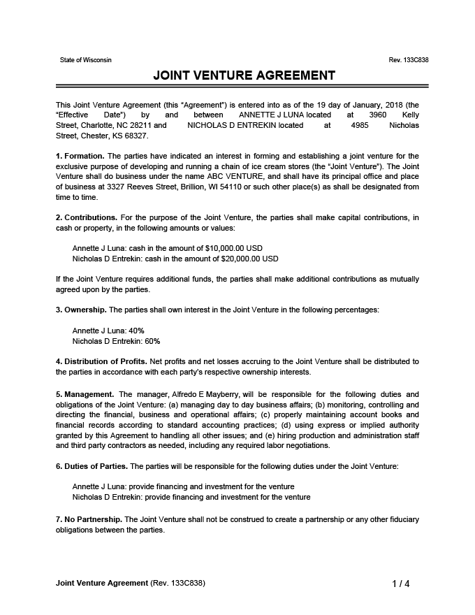 You can also check out our collection of license agreement templates. Free Joint Venture Agreement Template Examples Legal Templates