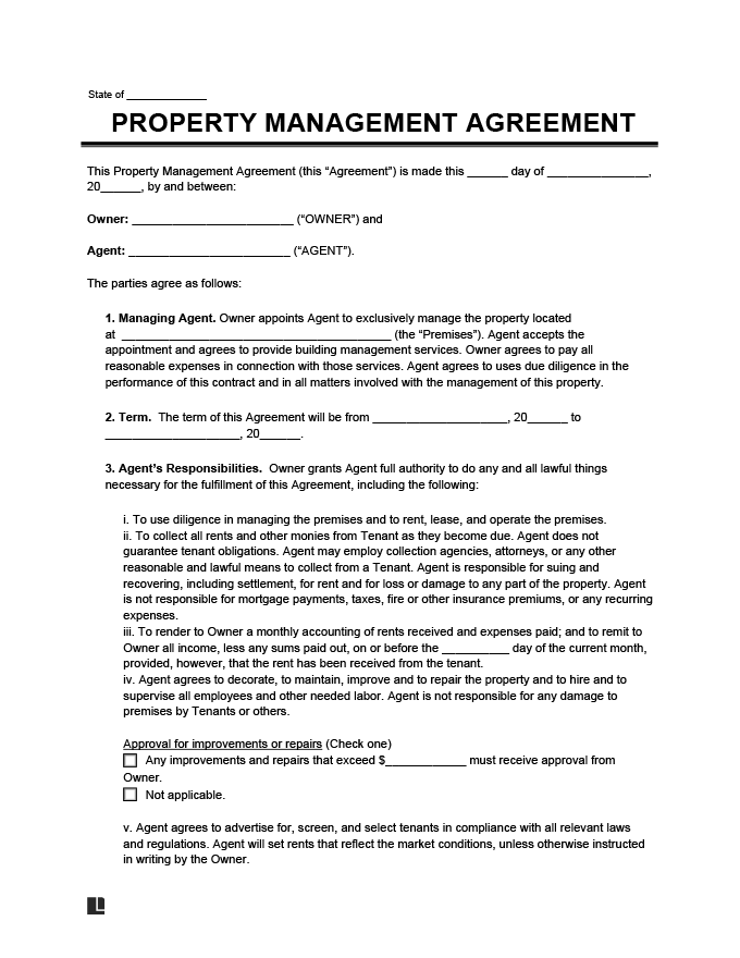 17/03/2016· the upset client template. Property Management Agreement Create Download A Free Contract