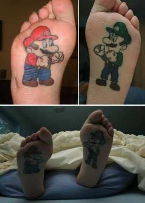 Tatuaggio Nerd - Mario e Luigi - Lega Nerd