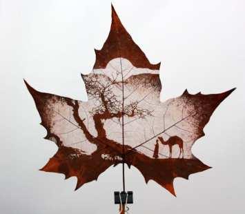 Leaf Carving Tree