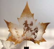Leaf Carving Horses
