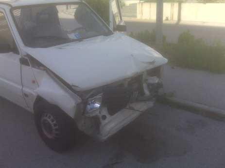 Fiat Panda Van distrutta