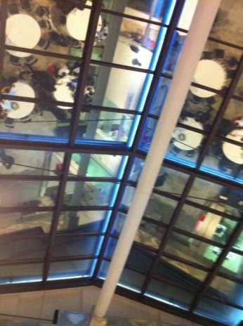 Il soffitto dell'Opificio Telecom, via dei Magazzini Generali 20 (Roma)