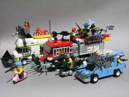 zombie lego vans