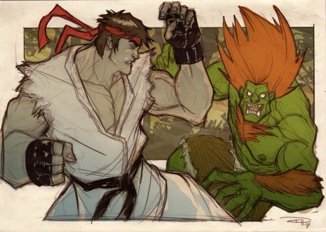 Ryu VS Blanka