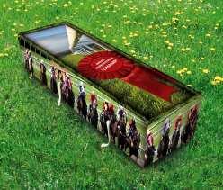 horse racing coffin grass
