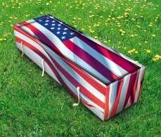 usa flag coffin grass