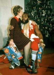 Nancy Reagan and Mr. T