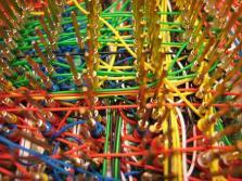 Un particolare della wire wrap