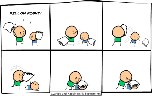 XKCD pillow fight till death