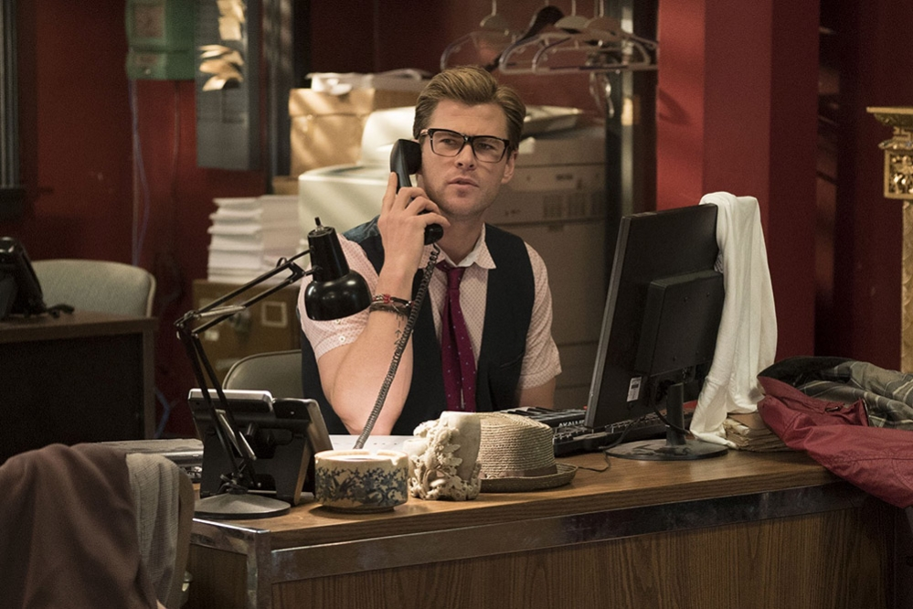 Image result for ghostbusters 2016 chris hemsworth