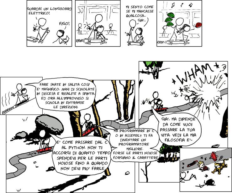XKCD: Skateboard elettrico (doppia vignetta) #LegaNerd