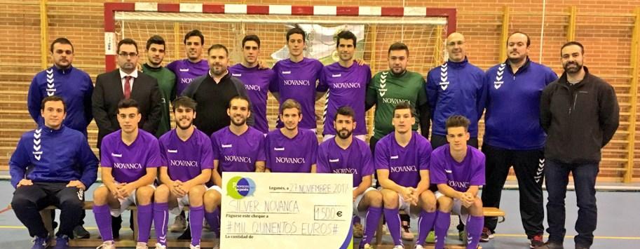 Proyecto Leganes donación al fútbol sala Silver Novanca