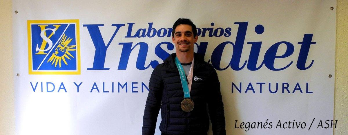 Ynsadiet y Leganés reciben al bronce olímpico Javier Fernández