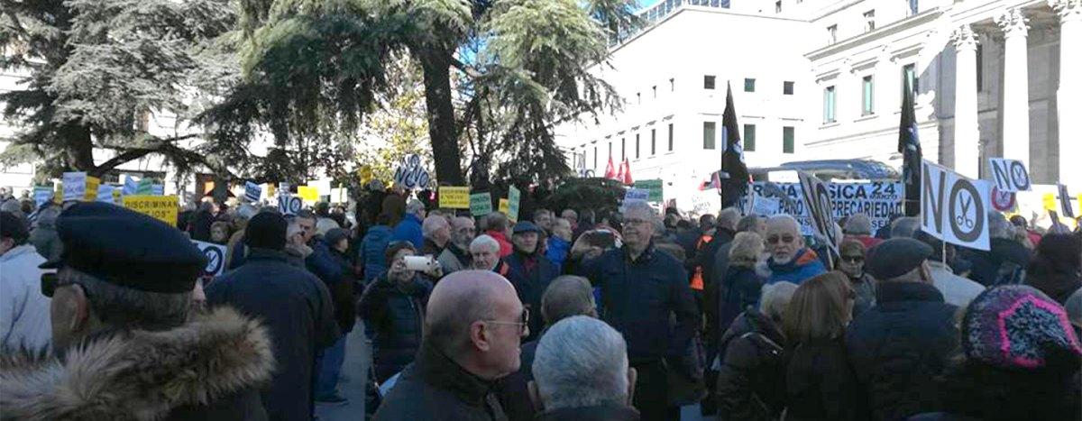 Los pensionistas de Leganés se suman a la manifestación por las pensiones dignas