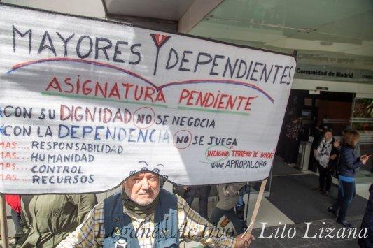 Manifestación residencias de mayores Madrid