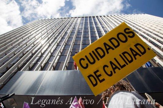 Manifestacion residencias de mayores en Madrid