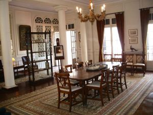 The dining room exhibit of Marguerite McBey's sketchbooks