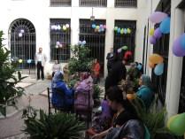A full courtyard