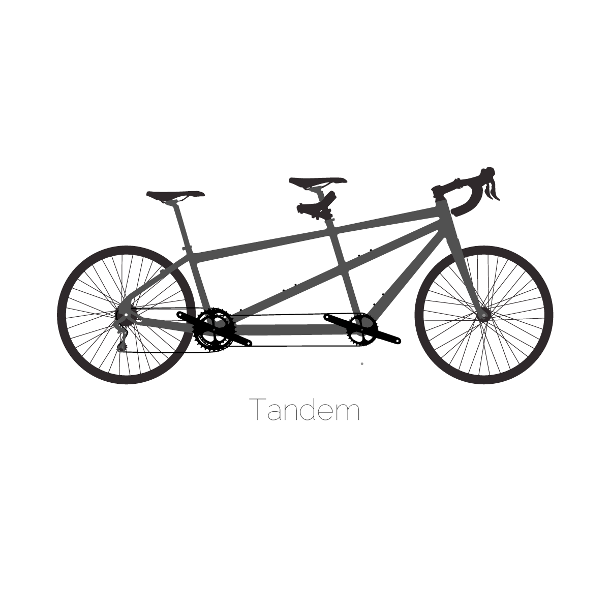 Bicycle Silhouette Illustrations