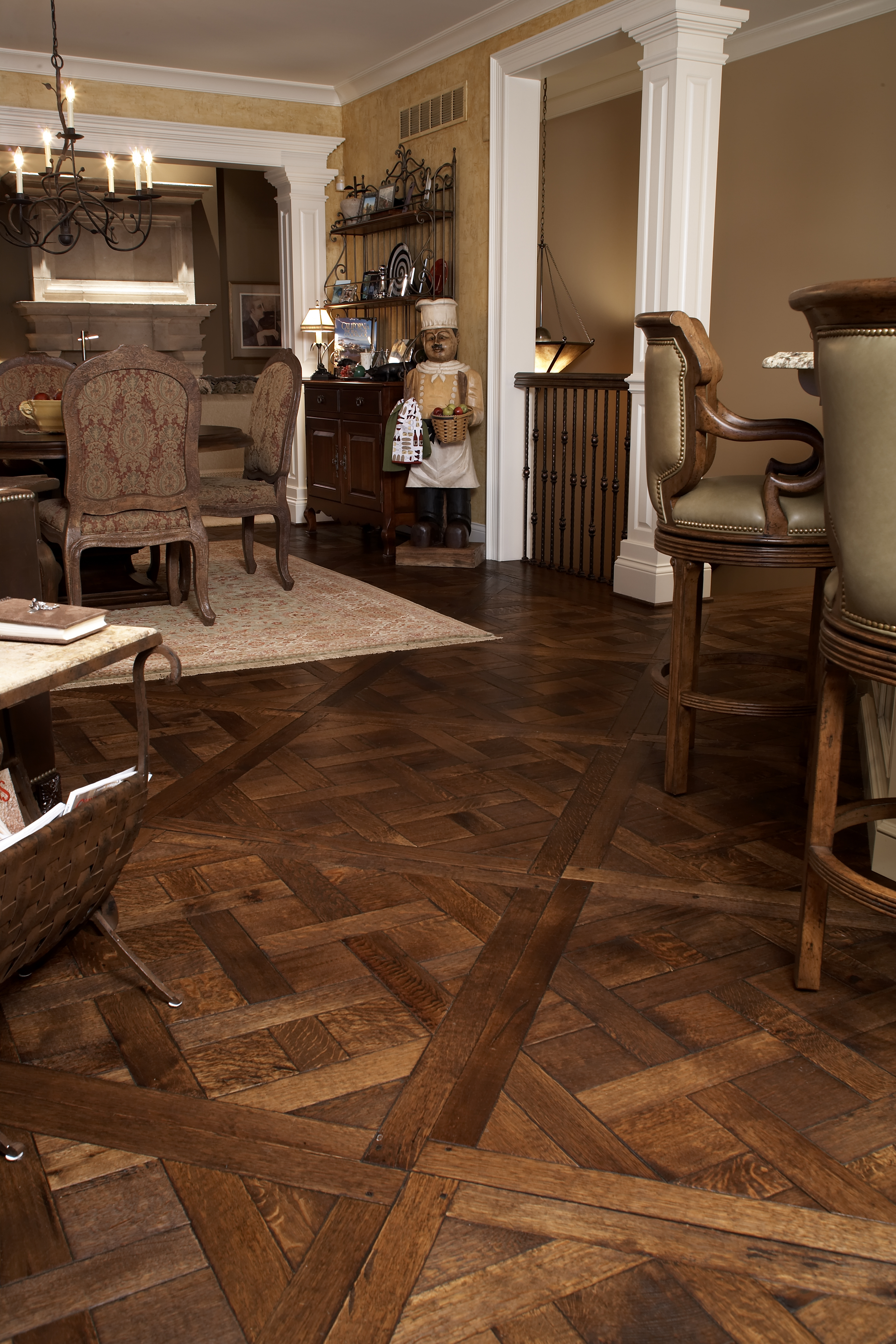 antique kitchen tables art for parquetry flooring | legendary hardwood floors, llc